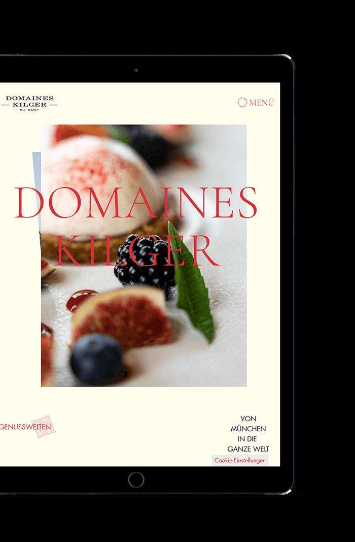 Domaines Kilger Website